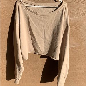 Like new Fashion Nova 1X crop top sweater